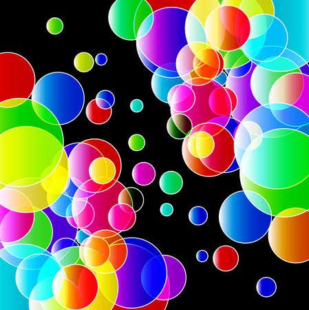 Color lights background.  Illustration. EPS10 Illustration