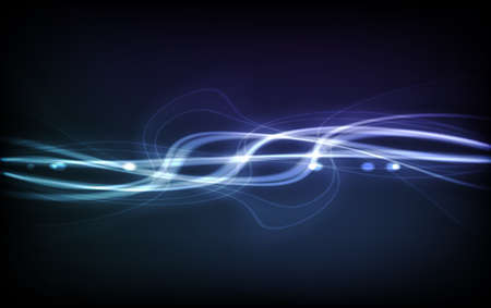 Abstract  Background - Transparent Lights on Colorful Wave. EPS10 Illustration