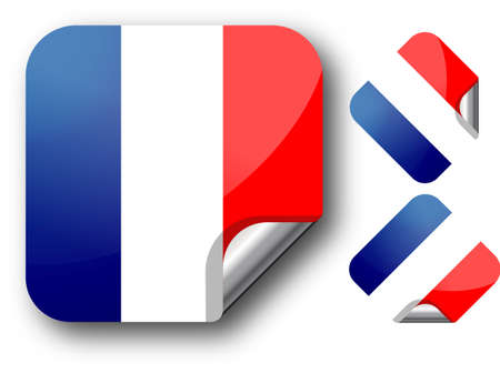 Sticker with France flag. EPS10