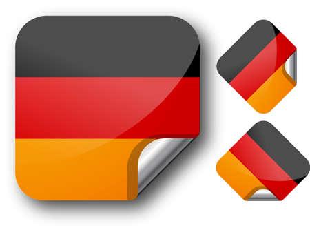 Sticker with German flag. EPS10 Illustration