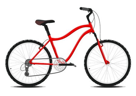 Red Bicycle on a white background.