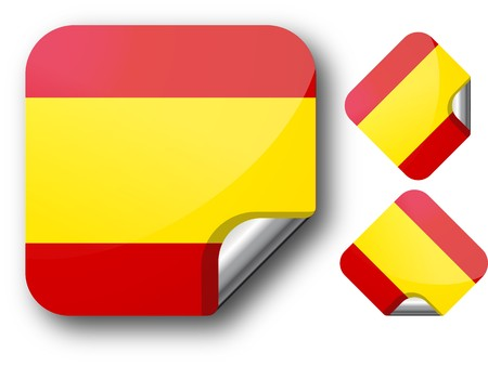 Sticker with Spain flag