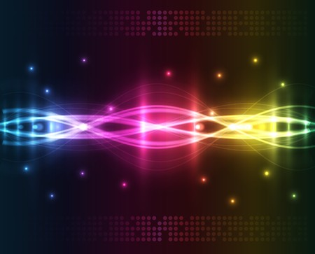 Abstract lights - colored background Illustration