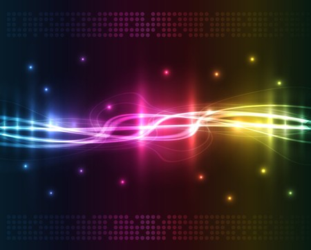 textured effect: Abstract lights - colored background Illustration