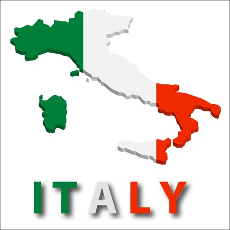 territory: Italy territory with flag texture.
