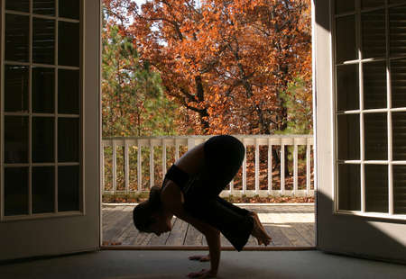 Young woman doing yoga Stock Photo - 723133
