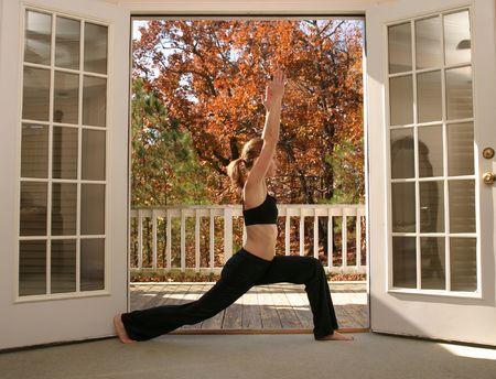Young woman doing yoga Stock Photo - 723134