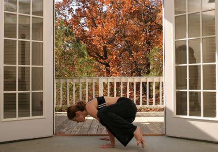 Young woman doing yoga Stock Photo - 723135