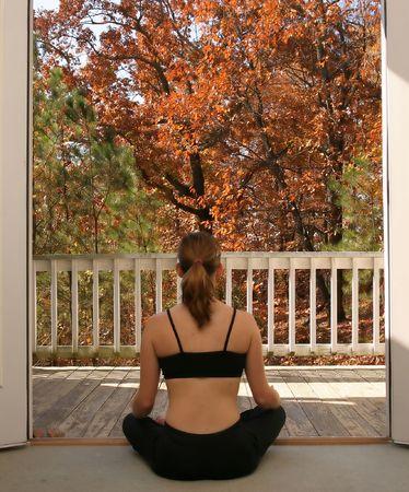 Young woman doing yoga Stock Photo - 723137