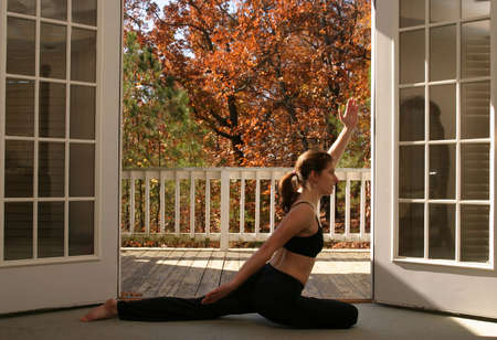 Woman doing yoga Stock Photo - 723140