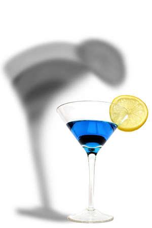 stirred: Cocktail Shadow Stock Photo