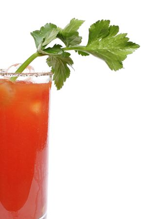 tomato cocktail: Bloody Mary cocktail guarnito con sedano