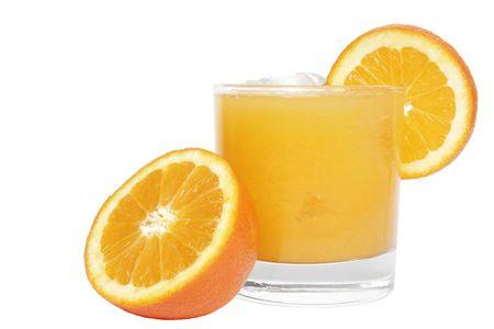 Orange juice isolated Stock Photo