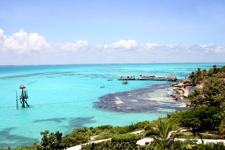 Isla Mujeres off the Yucatan coastin Mexico photo