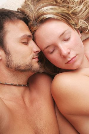 Couple in Bed Stock Photo - 345057