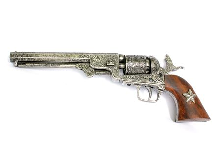 Old-fashioned western-style revolver