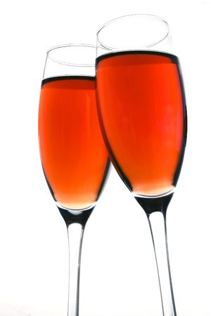 Pink Champagne Toast Stock Photo