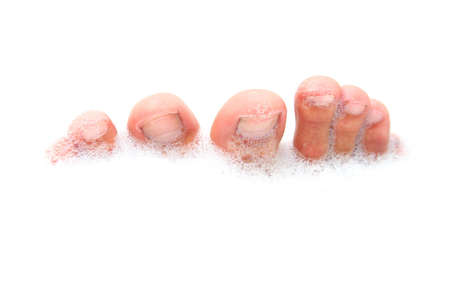 Male feet in soapy bathwater Stock Photo - 371090