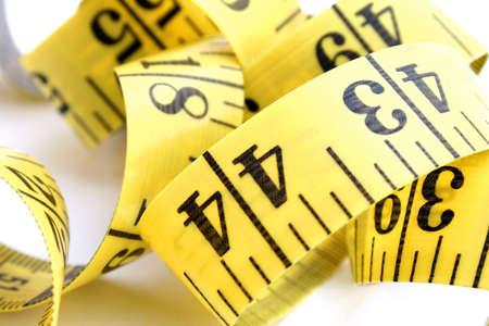 centimetre: Close-up of measuring tape Stock Photo
