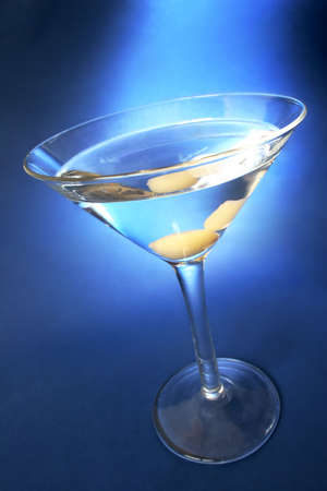 Martini with blue light background