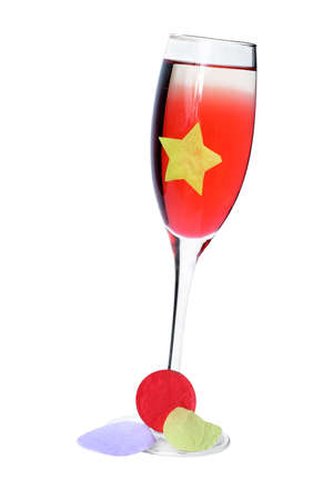 Isolated Party cocktail with confetti; includes CP photo