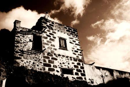 abandoned farmhouse abandoned farmhouse: Spooky old abandoned hacienda in sepia tones