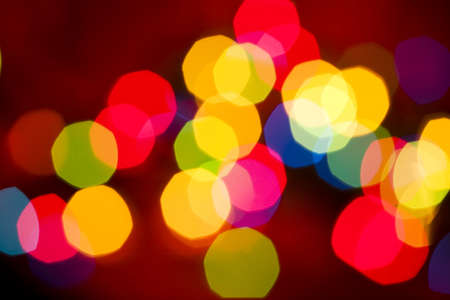 excitement: Christmas lights defocused to abstraction