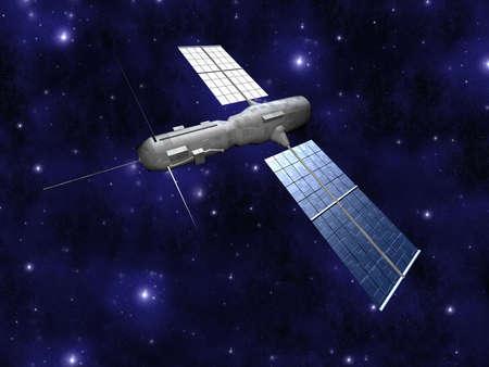 raytrace: Satellite - Starfield Background