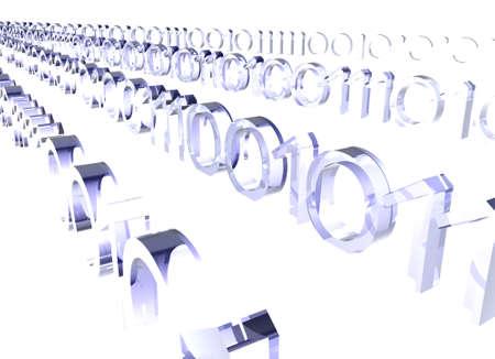 raytrace: Binary Stream Stock Photo
