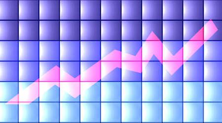 wallstreet: 3D Chart - flat Stock Photo