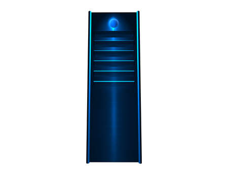 webhosting: 3D  - Blue glowing Stock Photo