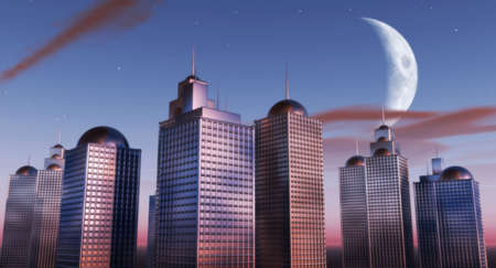 raytrace: Evening Skyline