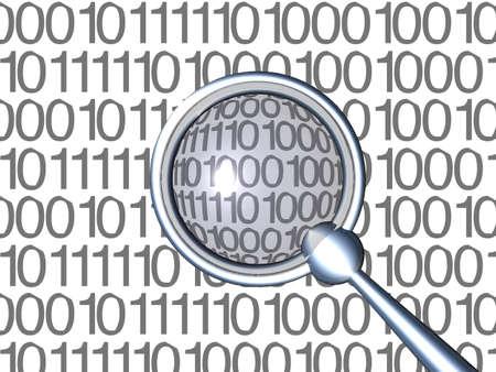 ampliar: Inspecting Binaries - White 1 Banco de Imagens