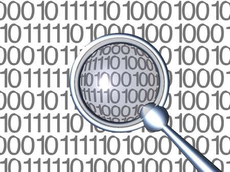 detection: Inspecting Binaries - White 1 Stock Photo