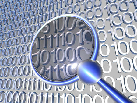 snoop: Inspecting Data - Blue 1 Stock Photo
