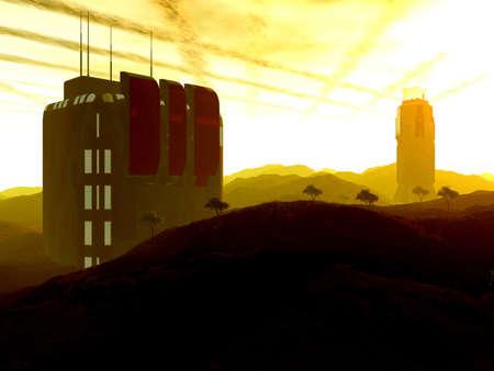 outpost: Outpost beta Stock Photo