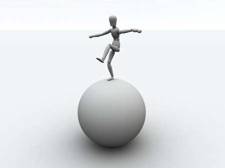 sphere standing: Balancing 1