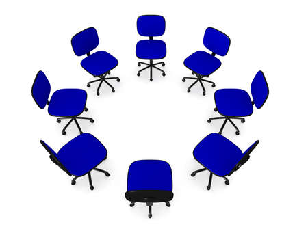 to discuss: Circle of Office chairs