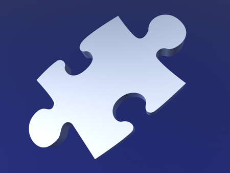 Metal Puzzle Piece Stock Photo - 777977