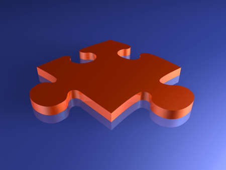 Red Puzzle Piece Stock Photo - 777978