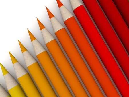 Crayon Color Spectrum - red Stock Photo - 679151