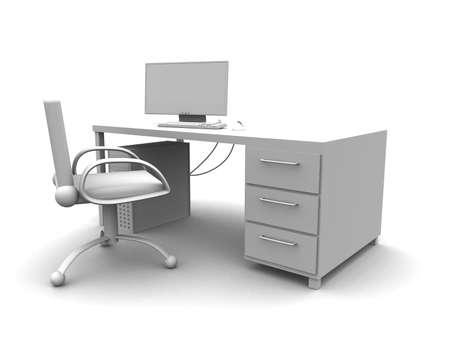 furniture hardware: Lugar de trabajo de la PC