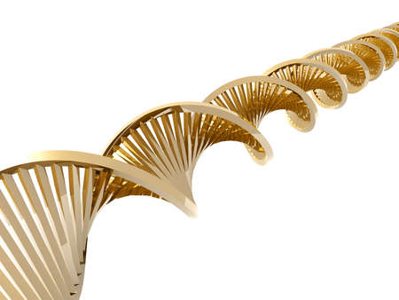 Golden DNA double Helix Stock Photo