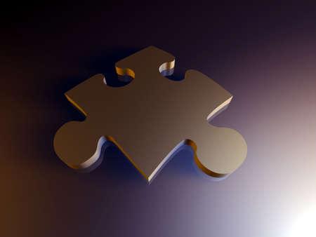 Metal Puzzle Piece Stock Photo - 916770