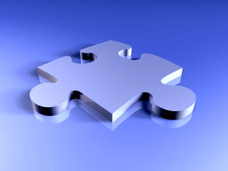 Metal Puzzle Piece Stock Photo - 916771