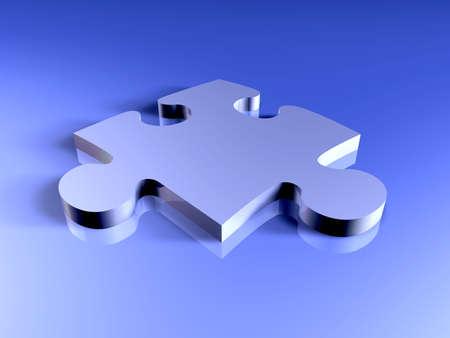 Metal Puzzle Piece Stock Photo - 916771