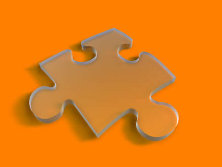 Clear Puzzle piece Stock Photo - 926872