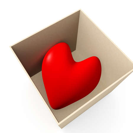 Heart in a box Stock Photo - 926890
