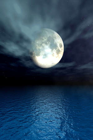 Moonlight Ocean photo