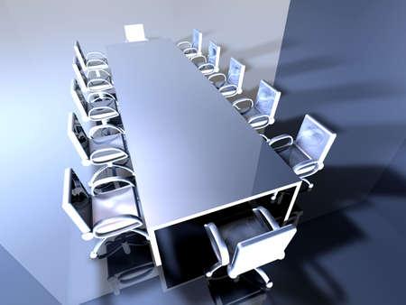 raytrace: Metal Meeting Room